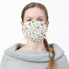 Cute Camping Theme Adult Cloth Face Mask skiing gifts, camping tote, camping family #dishscrubbies #dishscrubbie #dishscrubby, back to school, aesthetic wallpaper, y2k fashion Lost In The Woods, Camping Theme, Tent Camping, Green Eggs And Ham, Spring Garden, Floral Watercolor, Poinsettia, Red Green, Yellow