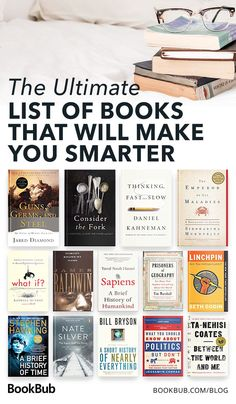 The Ultimate List of Books That Will Make You Smarter - - These thought-provoking books from authors such as Malcolm Gladwell will impart lasting knowledge. Best Books To Read, Good Books, My Books, Book To Read, Best Art Books, Teen Books, Book Challenge, Reading Challenge, Reading Lists