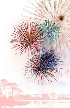 Watercolor firework tattoo idea