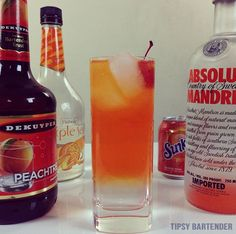 THE FUZZY ORANGE GEORGIAN  1.5 oz. (45ml) Orange Vodka 1.5 oz. (45ml) Peach Schnapps  1.5 oz. (45ml) Triple Sec Top with Orange Soda