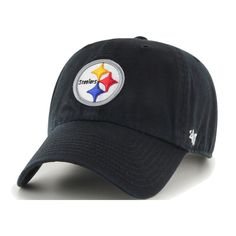 on sale cd7d5 437d1  47 Men s Pittsburgh Black Clean Up Adjustable Hat, Team Pittsburgh  Steelers Hats, Hats.