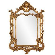 Antique Gold Vertical Baroque Mirror  49'' X 34''  $399