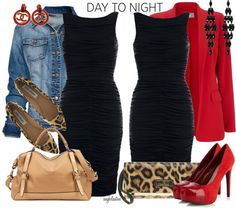 """""""Day to Night Contest - LBD!"""" by angkclaxton ❤ liked on Polyvore"""