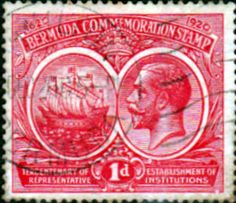 Bermuda 1920 King George V Institutions Tercentenary SG 65 Fine Used SG 65 Scott 67 Condition Fine Used Only one post charge applied on multipule