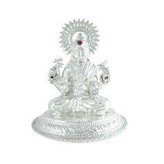 Jpearls Pure Silver Lakshmi Idol | Silver Statues / Murtis of Indian Gods