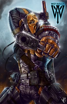 Deathstroke is a supervillain from DC comics and one of the world's deadliest assassins. Originally a villain for the Teen Titans, writers have developed him over the years as an antagonist for older heroes such as Batman and Green Arrow as well.
