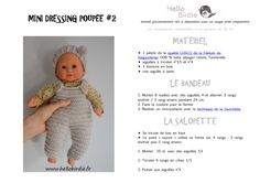 Page 1 Baby Doll Clothes, Crochet Doll Clothes, Doll Clothes Patterns, Clothing Patterns, Baby Dolls, Mini Dressing, Thing 1, Diy Toys, Winnie The Pooh