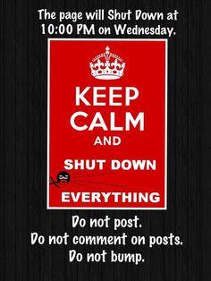 Keep calm & shut down