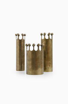 Rare Pierre Forsell brass vases produced by Skultuna at Studio Schalling #midcenturymodern #brass #skultuna