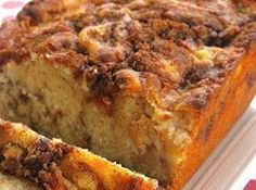 Apple Cinnamon Loaf Recipe. An absolutely 100% delicious quick bread recipe. I had to bake it for about 45 minutes total in a Pampered Chef stoneware pan, so far longer than the recipe called for. Other than that-I wouldn't change a thing.