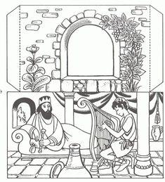 King Saul David Playing Harp S Media Cache