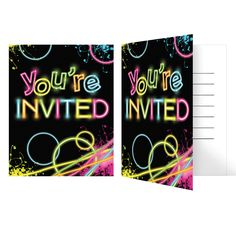 Glow Party Invitation/Case of 48                                                                                                                                                      More