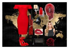 Red by cheyenne-de-jongh on Polyvore featuring polyvore fashion style Posh Girl Alexander McQueen Karen Millen Andrew Marc Kevyn Aucoin Jouer Oliver Gal Artist Co. clothing
