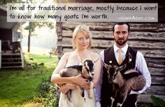 I want to know how many goats I'm worth.