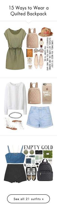 """15 Ways to Wear a Quilted Backpack"" by polyvore-editorial ❤ liked on Polyvore featuring waystowear, quiltedbackpack, мода, Steve Madden, Marc by Marc Jacobs, Kate Spade, Zara, River Island, Free People и Uniqlo"