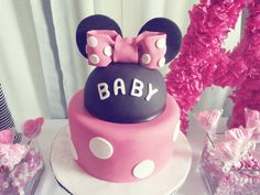 minnie mouse bacby shower cake