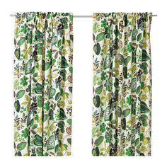 IKEA - SYSSAN, Cortinados, 1 par, , O linho confere ao tecido uma textura natural e irregular e firmeza ao tocar.Os cortinados deixam passar a…