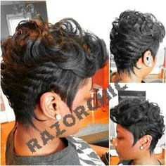 I love dis nice work razor chic My Hairstyle, Cute Hairstyles For Short Hair, Short Hair Cuts, Short Hair Styles, Mowhawk Hairstyles, Mixed Hairstyles, Amazing Hairstyles, Straight Hairstyles, Love Hair