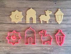 Ramadan Kareem Cookie Cutter Set 4 dlg / Eid Mubarak / Happy