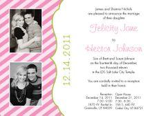 Wedding Invitation - Felicity & Hector SIDE 1 idea 1