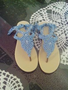 Sandalias macrame niña