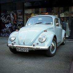 Blue Volkswagen Beetle