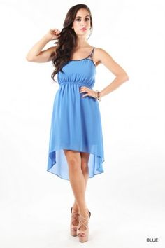 Strappy Bead Embellished High Low DressBuy today for $59 Shipped salediem.com