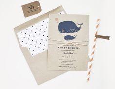 Little Squirt Baby Shower Invitation / por rachelmarvincreative
