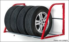 Rolling Tire Storage Rack This Tire Loft From Hyloft Is A Great Place To Store Your Winter Or