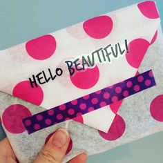 The Paperdashery outgoing order 💖 Polka dot tissue paper, washi tape & exclusive happy mail sticker. Decorative Tape, Tape Crafts, Happy Mail, Hello Beautiful, Mail Art, Tissue Paper, Washi Tape, How To Be Outgoing, Polka Dots