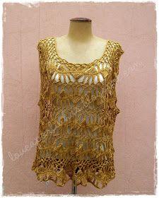 louca por linhas - crochet e patchwork: Blusa Trama
