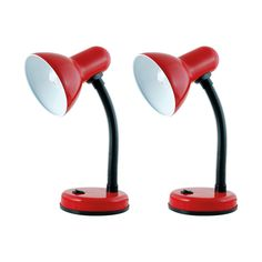 Litecraft Pack Of 2 Red Flexi Neck Desk Lamps- at Debenhams.com