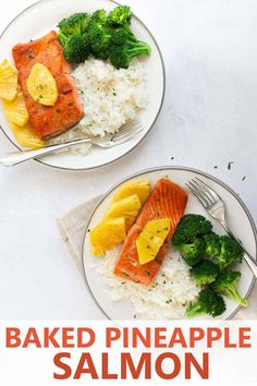 Maple glazed salmon with pineapple combines sweet and spicy flavors for a delicious dinner that everyone in your family will love. Use fresh or frozen salmon to make this quick fish recipe! Easy Fish Recipes, Quick Dinner Recipes, Salmon Recipes, Kid Recipes, Healthy Eating Recipes, Cooking Recipes, Pineapple Salmon, Quick Fish, Maple Glazed Salmon