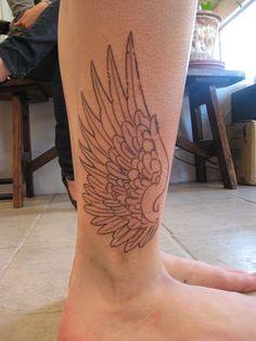 Hermes Wings Tattoo - in progress by Shannon Archuleta, via Flickr