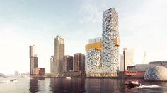 MVRDV is geselecteerd voor het ontwerp van de laatste twee woontorens op de Wilhelminapier in Rotterdam.