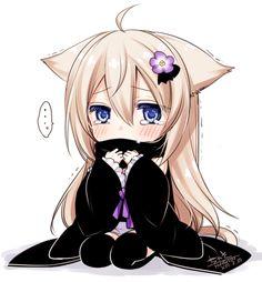 Anime Girl Neko, Cute Anime Chibi, Chibi Girl, Kawaii Anime, Anime Girls, Art Quotes Funny, Anime People, Anime Life, Anime Artwork