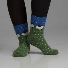 Viking Yarn - Sokker sau i hagl i str. 37 til 42