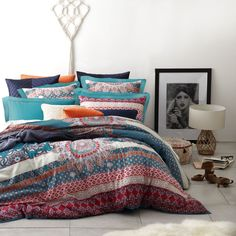 Harvest Magenta Duvet Cover Set by Ltd - queenb - New Zealand