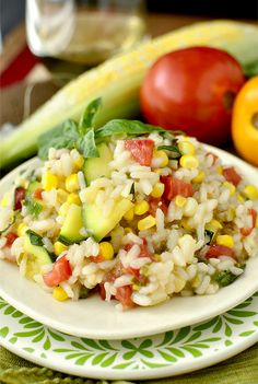 Summer Farmers Market Risotto | iowa girl eats Rice Recipes, Side Dish Recipes, Vegetarian Recipes, Dinner Recipes, Healthy Recipes, Side Dishes, Healthy Dinners, Farmers Market Recipes, Kitchens