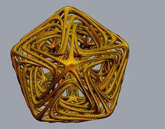 Fractal Linked Star 3D Model