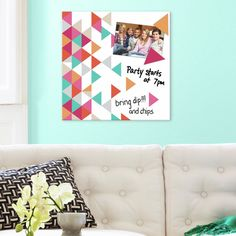 Multi Triangle Graphic Art on Wrapped Canvas