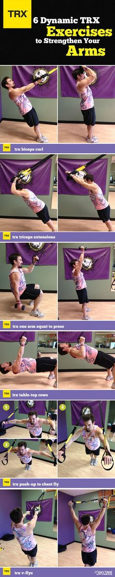 I tried this and thought I was going to die. So close to doing a face plant.   6 Dynamic TRX Exercises to Strengthen Your Arms