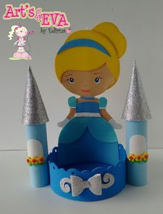 ♥ Ateliê by Edirna ♥: centro de mesa princesas em eva Cinderella Birthday, Princess Birthday, Foam Crafts, Diy And Crafts, Diy For Kids, Crafts For Kids, Prince Party, Disney Princess Party, Bday Girl