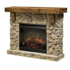$1500 fireplace  Dimplex SMP-904-ST Stone Look Electric Flame Fireplace