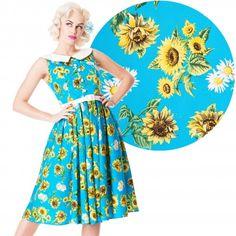 Hell Bunny Sunrise 50s Dress - $75.00 - http://www.atomiccherry.com.au/hell-bunny-sunrise-sunflower-50s-dress