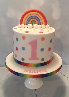 Girls first birthday cake