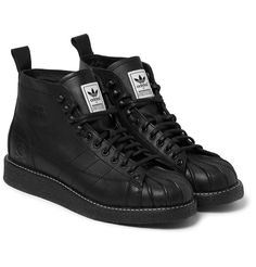 online retailer 9263a 5e873 adidas Originals - + Neighborhood Shell-Toe Leather Boots   MR PORTER Adidas  Men,