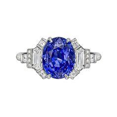 Raymond C. Yard 4.20 Carat Sapphire & Diamond Ring (=)