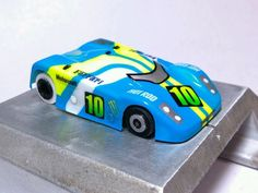 Velochamp2 lexan ho slot car body for VIPER or BSRT 1/64 custom painted. This car is part of my personal collection.