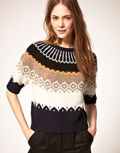 Fairisle Crop Sweater. $199.98